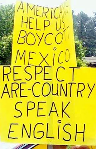 Respect are country. Speak English.
